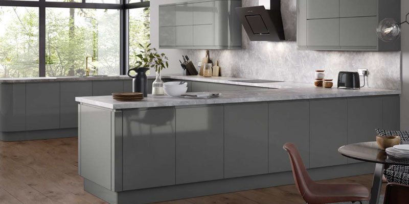 The Larissa Gloss Is A 22mm Lacquered Handleless Door Kitchen
